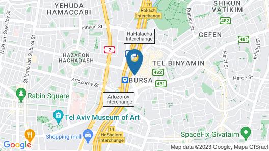 Leonardo City Tower Hotel Tel Aviv Map