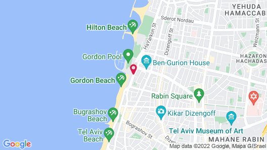 Herods Hotel Tel Aviv by the Beach Map