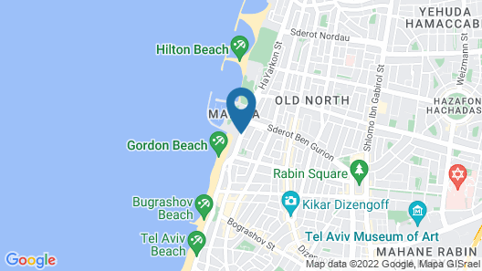 Herods Hotel Tel Aviv by the Beach Map