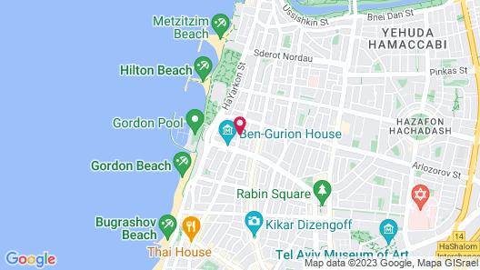 Ben Yehuda Apartments Map