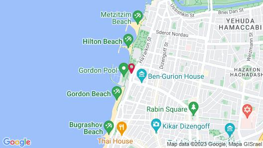Carlton Tel Aviv Hotel Map