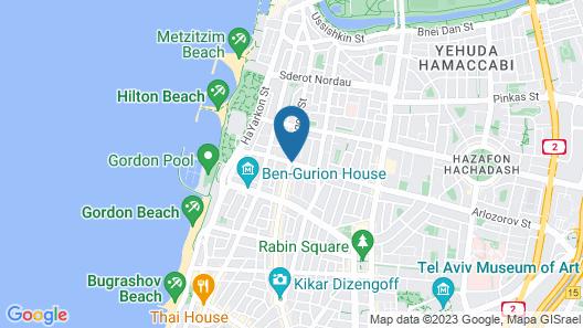 Arlozorov Suites Hotel Map