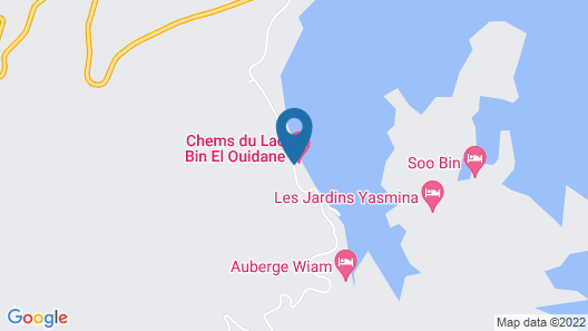 Hotel Chems du Lac Map