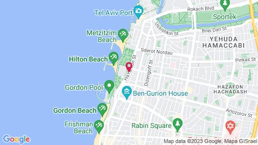Shalom Hotel & Relax, Tel Aviv - an Atlas Boutique Hotel Map