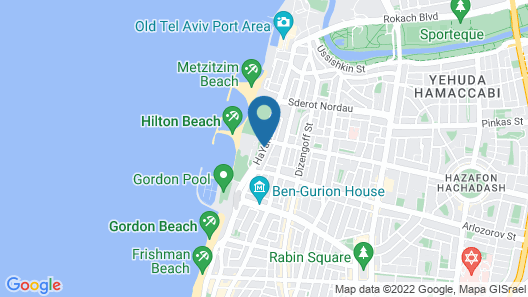 Shalom Hotel & Relax, Tel Aviv - an Atlas Boutique Hotel Map