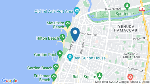 Villa in TLV with a BIG YARD and POOL Map