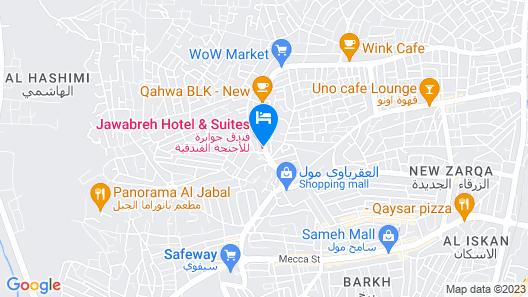 Jawabreh Hotel & Suites Map