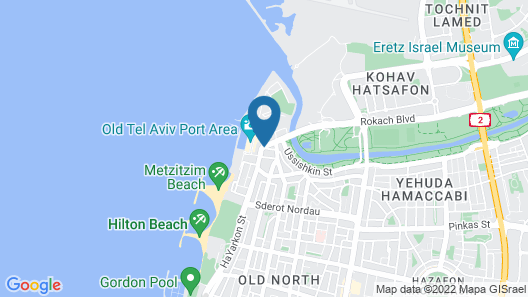 Port and Blue TLV Boutique Suites Hotel Map