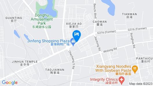 Ramada Plaza Wyndham Xiangyang Xiangzhou Map