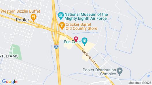 Motel 6 Pooler, GA - Savannah Airport Map
