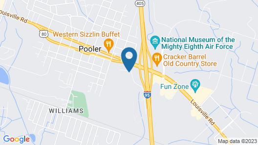 Best Western Premier I-95 Savannah Airport / Pooler West Map