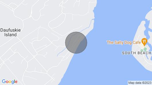 Beautiful Daufuskie Island Beachfront 2 Bedroom Cottage FREE GOLF CART & WiFi Map