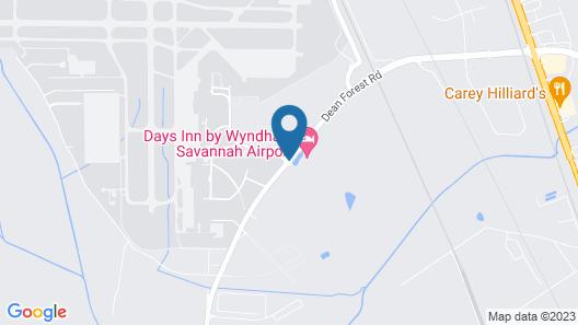 Days Inn by Wyndham Savannah Airport Map