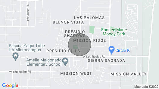 Casino del Sol, Saguaro National Park & Old Tucson Map