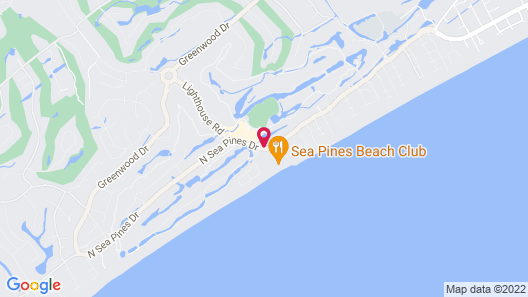 Marriott's Monarch at Sea Pines Map