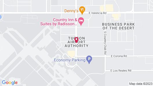 Comfort Suites Tucson Airport Map