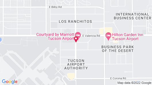 Courtyard by Marriott Tucson Airport Map