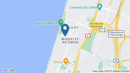 West All Suite Boutique Tel Aviv Map