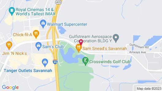 Holiday Inn Express Savannah Airport Map