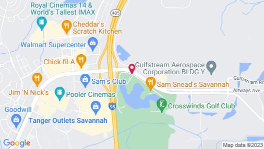Candlewood Suites Savannah Airport Map