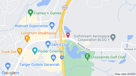SpringHill Suites by Marriott Savannah Airport Map