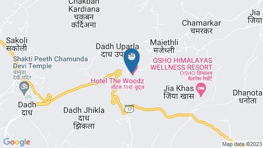 Hotel The Woodz Map