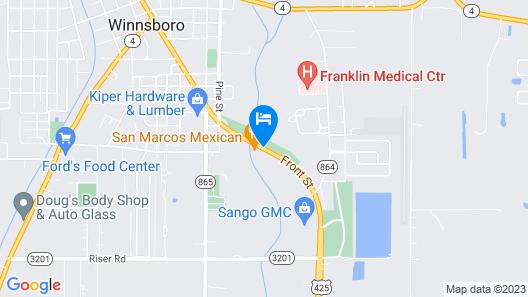 Americas Best Value Inn Winnsboro, LA Map