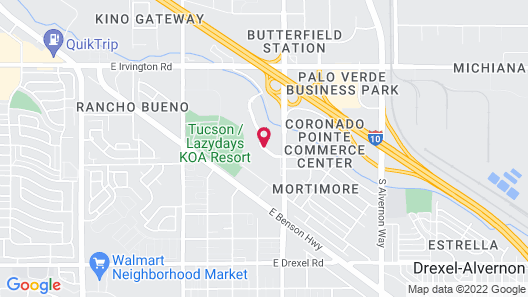 Travelodge by Wyndham Tucson Airport Map