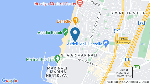 Magical Villa in Herzliya Map
