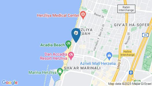 Herzeliya Studio Apartment Map