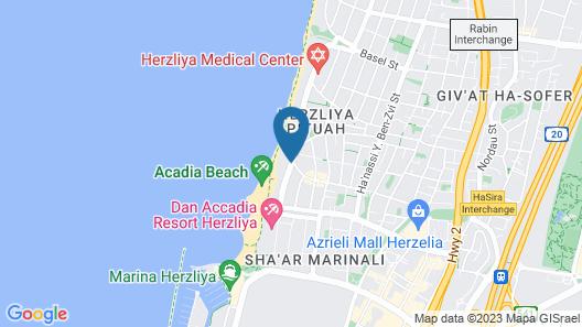 Daniel Hotel Herzliya Map