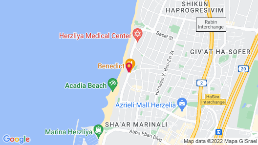 Okeanos Suites Herzliya by Herbert Samuel Map