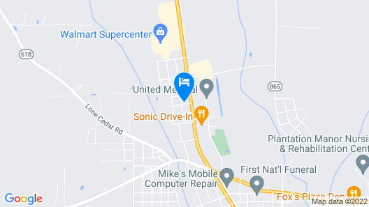 Embers Inn Map