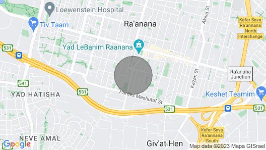 Deluxe 3 Bedrooms - Ben Gurion St Map