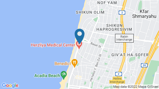 Sharon Hotel Herzliya Map