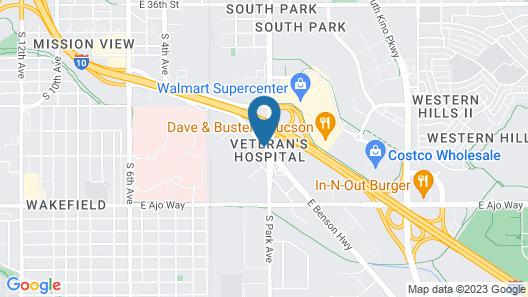 Americas Best Value Inn Tucson Map