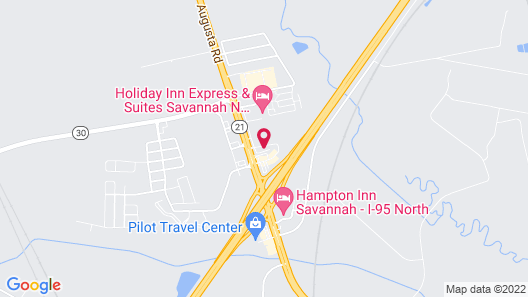 Comfort Suites Savannah North I-95 Map