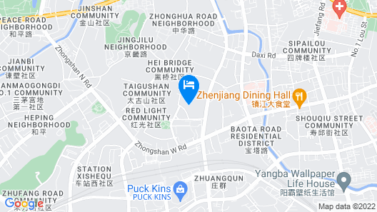 Green Tree Inn (Zhenjiang Zhongyang Street RT-MART) Map