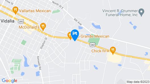 Days Inn by Wyndham Vidalia Map
