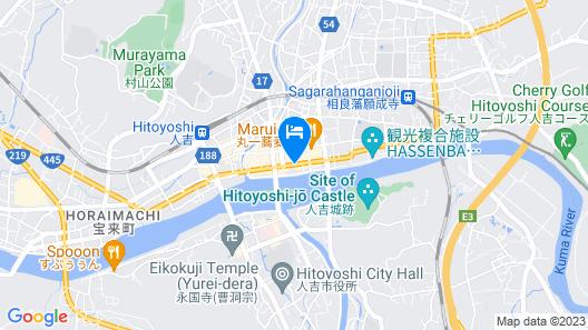 Hitoyoshi Onsen Nabeyahonkan Map