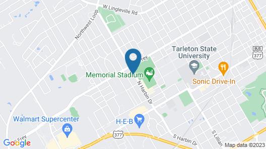 Hampton Inn & Suites Stephenville Map