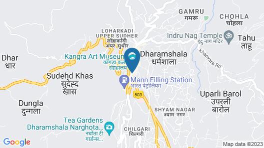 Hotel Dewan Palace Dharamshala Map