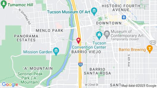 Ramada by Wyndham Tucson Map