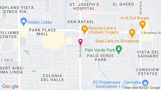 Hampton Inn & Suites Tucson East/Williams Center Map