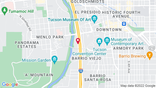 Red Lion Inn & Suites Tucson Downtown Map