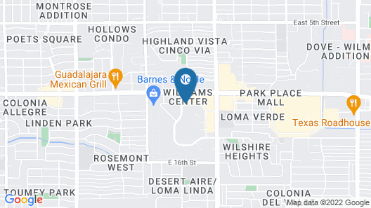 Courtyard by Marriott Tucson Williams Centre Map