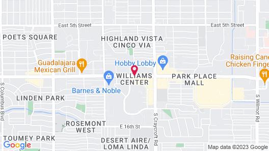 DoubleTree Suites by Hilton Tucson - Williams Center Map