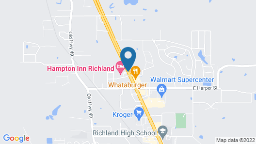 Hampton Inn Richland/South Jackson Map