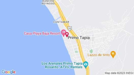 Casa Playa Baja Map