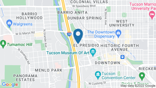 Hotel Tucson City Center, Ascend Hotel Collection Map